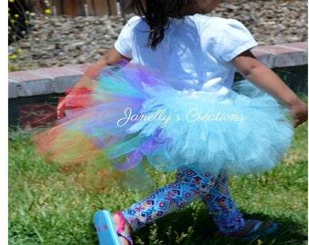 Rainbow Dash inspired tutu, kids tutu, baby tutu, newborn tutu, preemie tutu