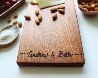 Cheese Board, Personalized Cutting Board, Custom Name, Wedding Gift, Christmas Gift, Anniversary, Personalized Womens, Gift For Her, Closing