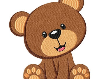 Teddy Bear Embroidery Design File .vip .vp3 .hus .pes .pec .jef .sew .xxx .csd .dst .exp .emd .10o .pcs .pcm and More. 3 Sizes