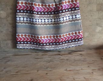 lurex vintage skirt, unique piece, vintage clothes , fashion ,