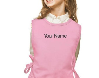 Personalized Pink Cobbler Kids Apron