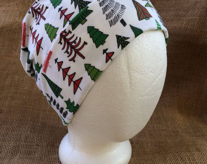 Christmas Tree Chemo Cap Womens Cancer Headwear and Beanie Slouch