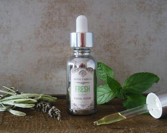 FRESH fine facial serum for oily & combination skin | salicylic acid anti-acne and anti-aging serum with melon, sage, mint | 1 oz