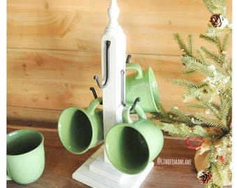 "4 Hook Mug Stand - 16 1/2"" Tall"