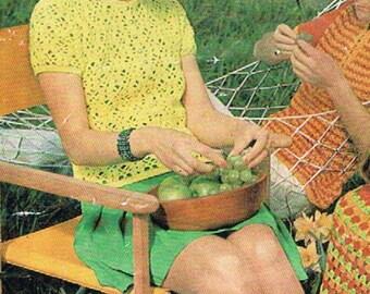 Vintage Patons Womens Crochet Top/Cardigan PDF Pattern