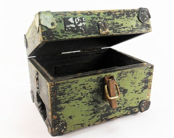 Military box Vintage Military Wooden Box Radio box Storage Container Steampunk Storage Industrial box Factory box Soviet Army Box Army Decor