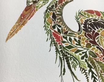 STUDIO SALE Heron Print (large) (listing 2)