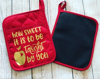 Custom / Personalized Pot Holder [Oven Mit] 6x8 inch with Neoprene Backing