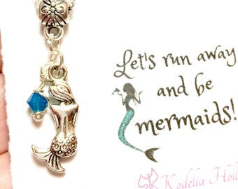 Mermaid Gift Card Necklace, Friendship gift, Mermaid Necklace, Mermaid Jewelry, Ocean, Beach jewelry,Mermaid, Gift Necklace, Gift card