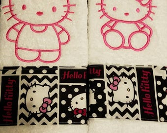 Hello Kitty hand towels