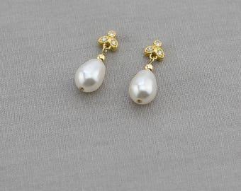 Clara | Bridal Earrings, Wedding Earrings, Rhinestone Earrings, Earrings, Fashion Earrings