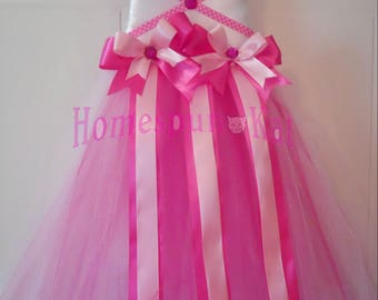 Princess Pink Tutu Hair Bow Holder MADE TO ORDER