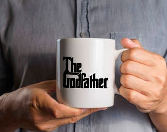 Funny Dad Gift, The Godfather Mug, Coffee Tea Mug for Father, Gift for Birthday Anniversary, , 11 & 15 Oz Available, Patriarch Gift Idea