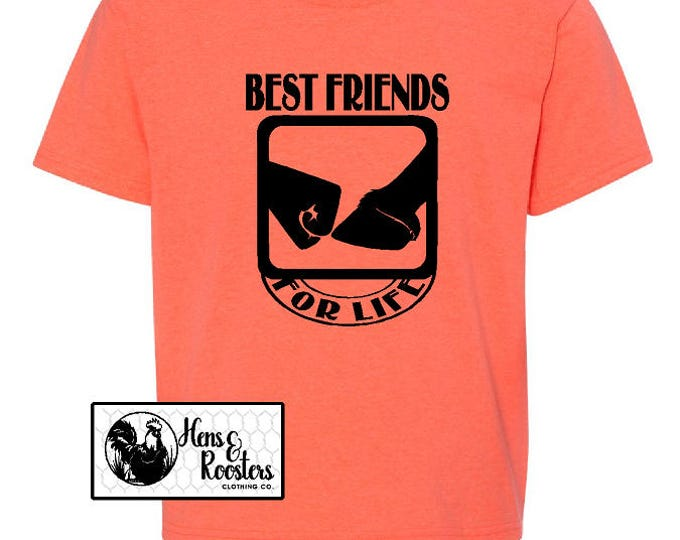YOUTH Best FriendS Child and Horse T-Shirt, Best Friend For Life Shirt, Horse Shirt, Fist Bump T-Shirt, Fist, Hoof, Horse Tee (3930BR) #1380