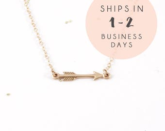 Arrow Necklace, Gold Necklace for Women, Simple Gold Necklace, Boho Jewelry, Chain Necklace for Girlfriend, Arrow Jewelry