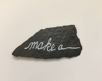 Make A Wish two-sided slate touchstone