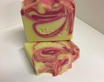 Lemon Rosewater Soap / Artisan Soap / Handmade Soap / Soap / Cold Process Soap