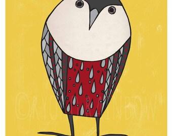 Owl art print. Owl wall decor, Woodland animal poster, Owl illustration, Kid artwork