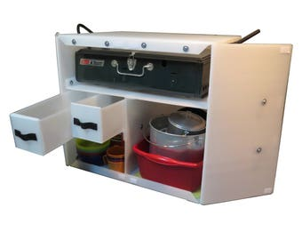 Plastic Chuck Box -  Keep your Camp Kitchen organized and Ready for Adventure