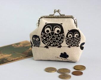 Coin Purse Owls,  Owl coin purse, Girlfriend Gift coin purse, gift for her Small Purse, Women gift purse, Gift for women little coin purse