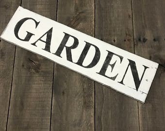 Garden sign, flower sign, spring signs, garden Decor, Easter sign, spring decor, Spring sign on reclaimed wood,