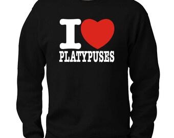 I Love Platypuses Sweatshirt
