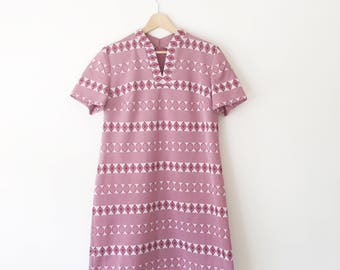 Mod Dress Plus Size/ Scooter Dress/ 60s Dress XL/ 60s Dress Mod/ Mod Dress XL/ Mod Dress Red/ Mod Dress Vintage