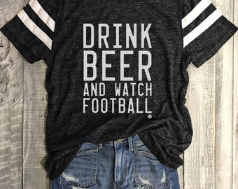 Drink Beer and Watch Football....Slim Fit Unisex Retro style Athletic Short Sleeve, Charcoal Heather, Athleisure, Sports, Raglan Sleeve, Gym
