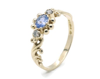 Tanzanite Gold Ring, Womens Tanzanite Ring, Gold Tanzanite, Blue Tanzanite Ring, Blue Tanzanite, Womens Gold Ring, Tanzanite Ring, Gold Ring
