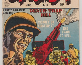 G.I Combat; Vol 1, 8, Golden Age War Comic. VG- (3.5). July 1953. Quality Comics Group (DC Comics)