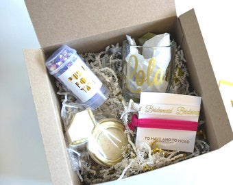 Bridesmaid Proposal Gift Box Sets- Thank you or Will You Be My Maid of Honor, Bridesmaid, Flower Girl, custom box