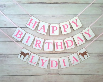 Pony Birthday Banner, Horse Birthday Banner, Pony Theme Party, Horse Party Decorations, Pony Party Decorations, Cowgirl Party Decorations
