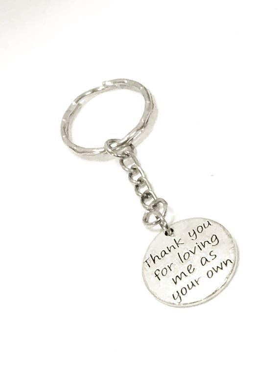 Stepmom Gift, Stepmom Keychain, Thank You For Loving Me As Your Own Keychain, Stepmom Valentine Gift, Mother In Law Gift, Stepmother Gift