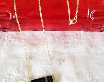 Banded Black Onyx Pendant