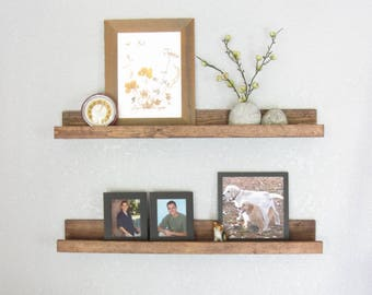 Floating Shelf Floating Shelves Book Wood Ledge Shelf Wood Ledge Shelves Photo Ledge Display Shelf