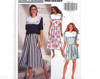Butterick Misses' Top and Split Skirt Sewing Pattern #6042 - UNCUT - Size 6+8+10 (Bust 30 1/2+31 1/2+32 1/2)