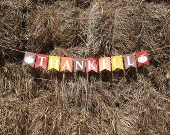 THANKFUL BANNER - Fall Banner - Thankful sign - Fall sign - Thanksgiving banner - Thanksgiving signs - Fall decorations