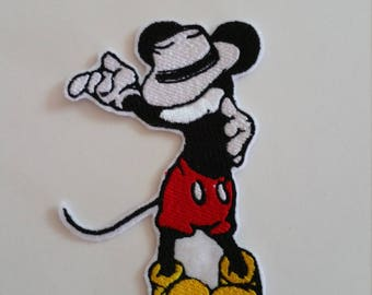 Michael Jackson Mickey iron on or sew on patch Mickey Mouse patch Michael Jackson patch Disney patch Mickey sew on patch Cartoon patch