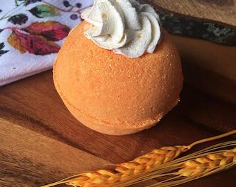 Pumpkin Spice Bath Bombs - Vegan Bath Bomb Natural Bath Fizzy Pumpkin Pie
