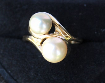 Vintage SULTAN Na Hoku  14k Gold Cultured  PEARL RING Size 6.75