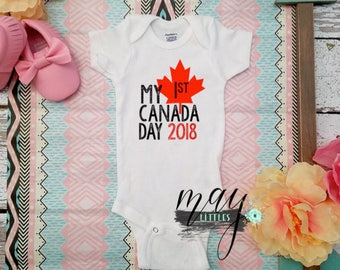 My First Canada Day 2017 Baby Bodysuit- Canada Day Baby Bodysuit - Canada Baby - I Love Canada Clothes