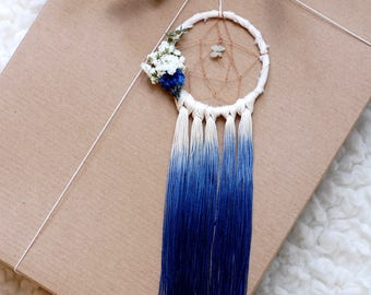 Indigo Mini Dream Catcher- Rearview Mirror Dream Catcher