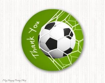 "Soccer favor circles, Sports favor circles, Boy birthday favor, Soccer favor stickers - INSTANT DOWNLOAD - PRINTABLE - 2"" - KB001"