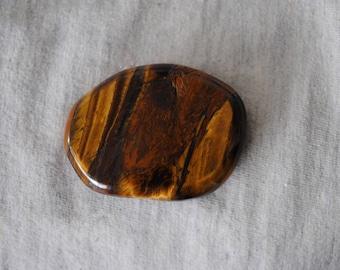Tiger Iron,Golden Brown Tiger Eye, Hematite, Palm Stone, Worry Stone, Healing Stone