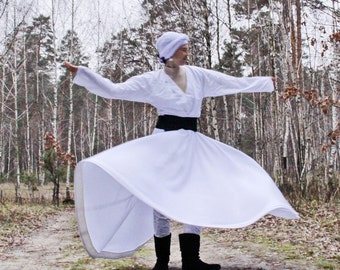 Whirling Costume, Dervish Costume, Dress for Whirling