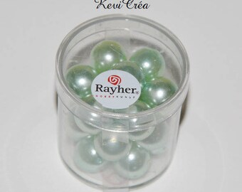 1 x box beads 12mm polished glass - RAYHER - Turquoise