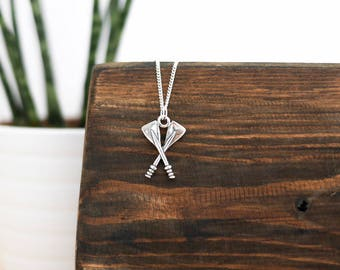 Silver Sailing Necklace • Mothers Day sterling jewellery mum wife girlfriend, rowing, gig, boat oars, nautical, canoe, kayak, jewelry