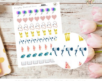 Everyday Icon Planner Stickers  | Planner Accessories | Two Dollar Tuesday | Task Tracker | Task Sticker | Sticker Sheets | Appointments