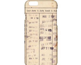 Library due date card iphone case-book iphone case,bookworm iphone case,iphone 7