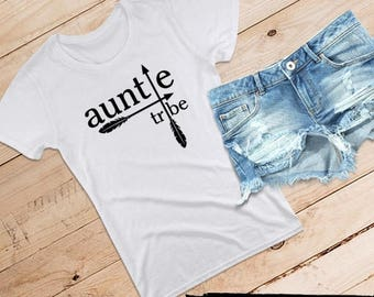 auntie tribe Relaxed Fit Tee for Her /// Aunt Shirt, Best Auntie Ever, Auntie Vibes, Aunt Tribe, Auntie Squad | #1440